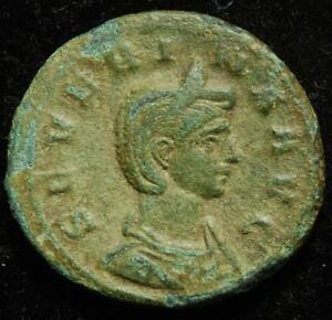 Severina (wife of Aurelian) AE as, IVNO REGINA / S in ex., Rome 274-275AD, RIC 7