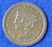 1851 1/2C BN Braided Hair Half Cent - Uncirculated Details