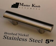 "20 pack Oval Brush Nickel 5"" Stainless Steel Tbar Kitchen Cabinet Handle Knobs"