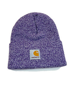 CARHARTT Beanie Kids Youth MARLED PURPLE Knit Hat Cap 100% Authentic NEW
