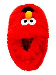 Sesame Street Boys Infant Elmo Slip On Slippers House Shoes Size 4 NEW Red