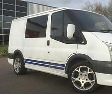 SWB Ford TRANSIT Sport Side Stripe Kit Decals Stickers Graphics All Colours