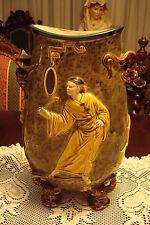 Hautin Boulenger HB & Cie Choisy-le-Roi Faience Japonesque Vase 19th Century