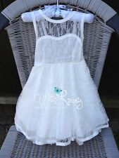 *NEW* Vintage Lace Flower Girl Party Dress Size 1,2,3,4,5,6,7,8 10,12