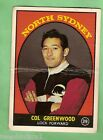 1968 SERIES 1 SCANLENS RUGBY LEAGUE CARD #39 COL GREENWOOD, NORTH SYDNEY BEARS