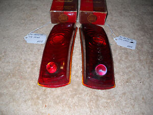 NOS Mopar 1941 DeSoto Tail Light Lenses Mint Pair!