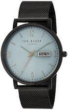d5368ed4d076 Ted Baker Grant Light Blue Dial Black Mesh Bracelet Men s Watch TE15196014  £165