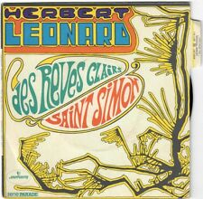 HERBERT LEONARD Des Rêves Clairs Saint Simon 1970 Gérard Manset BIEM Languette
