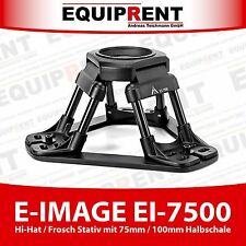 E-IMAGE EI-7500 Frosch- / Bodenstativ / Hi Hat Tripod 75mm / 100mm Schale EQ761