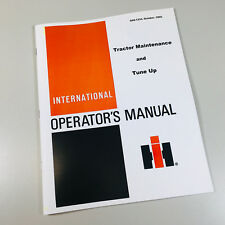 International Farmall Tractor Maintenance Tune Up Owners Operators Manual Book