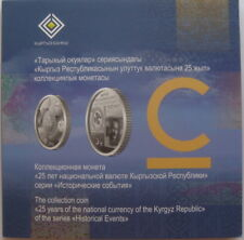 Kyrgyzstan 5 som 25 Years of the National Currency 2018 BU in folder