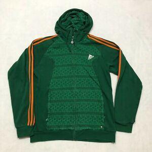 Adidas Ireland Euro 2008 Soccer Hoodie Adult Size Medium Green