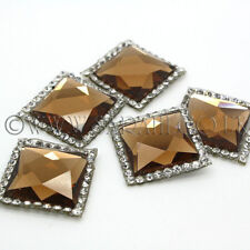 5 X SQUARE HOTFIX GLASS CRYSTALS,GEMS,COSTUME,ART,CRAFTS,SEW  - sarahi.NYC