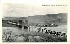 1940s Snake River Bridge Lewiston Idaho Nixon RPPC Real photo postcard 7550