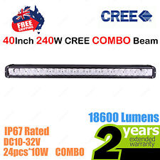 40inch 240W CREE LED Light Bar Work COMBO Beam SINGLE ROW Truck ATV SUV 4WD Car