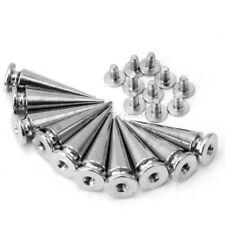 Punk Rock 10 Pieces Silver Tone Cone Studs Spike For DIY Bags Shoes Clothes New