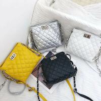 Women Leather Faux Handbag Satchel Cross Body Messenger Shoulder Bag Purse Small