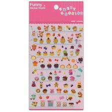 CUTE PASTRY STICKERS Sweet Cooking Dessert Food Sticker Sheet Craft Scrapbook