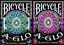 2 Deck Set of Bicycle A-Glo Playing Cards - Limited Editions – SEALED