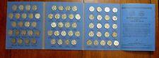 1938P/D/S-1961P/D Complete 65 pc Jefferson Nickel Collection w/fldr JN001jk