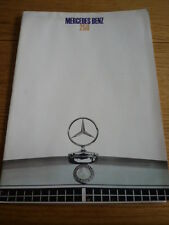 MERCEDES BENZ 250 CAR BROCHURE MARCH 1968  jm