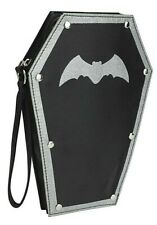 Vampire Coffin Handbag Adults Kids Halloween Party Black Goth Costume Accessory