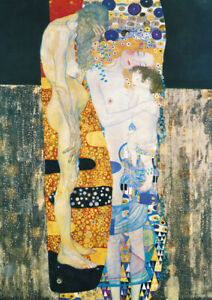 Gustav Klimt - The Three Ages of Woman - A3 size 29.7x42cm Canvas Print Unframed