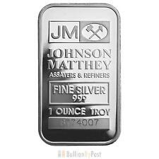 1 x 1oz Silver Johnson Matthey Bar