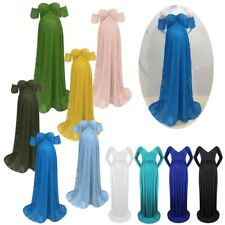 Maternity Off Shoulder Maxi Dress Pregnant Women Formal Wedding Party Outfits