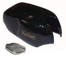 NORTON Roadster Commando Acier Simple Noir Peint Réservoir de carburant avec bouchon