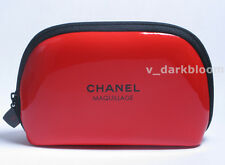 CHANEL BEAUTE COSMETIC BAG/ MAKEUP CASE Red BRAND NEW