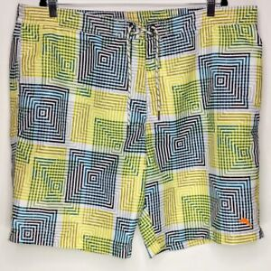 Tommy Bahama Mens XXL Yellow Relax Lined Board Shorts Swim Trunks Embroidered
