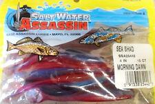 "Bass Assassin Sea Shad, 4"" - Morning Dawn, soft plastic lures"