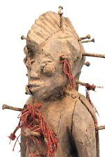 Art Africain Arts Premiers - Ancienne Statue de Devin Senoufo à Clous - 24 Cms