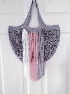 Handmade Crochet Women handbag, beach bag,shopping bag, New Gift NEUTRAL BOHO