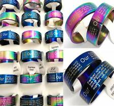 100x English Lord's prayer Rings Stainless Steel Wedding Rings Wholesale Jewelry