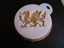 Laser cut small welsh dragon design cake, cookie,craft & face painting stencil
