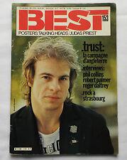 BEST No.153(Avr 1981)TRUST -Ph.COLLINS -R.DALTREY -Jimmy PURSEY/A.ANT -COMATEENS