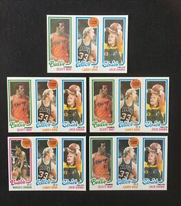 1980 Topps Scoring Leader Larry Bird ROOKIE RC LOT of (5) SHARP CORNERS Celtics