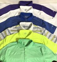 Lot of 6 Nike Golf Tour Performance Dri Fit Polo Shirts Shirt Men's Size XL