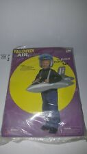 VINTAGE HALLOWEEN WAIRABLES TOP FLIGHT FIGHTER JET SET JET & HELMET