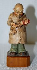 """Vintage 1958 ANRI Toriart Hand Carved Wood """"Pediatrician"""" #11801-2 - Italy"""