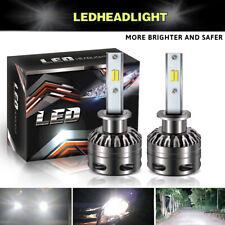2x Dual Color High Power 60W 6000LM H1 LED Headlight Bulb HID CONVERSION KIT Fog
