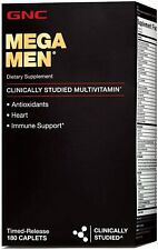 GNC Mega Men Multi Vitamin, 180 Count - NEW