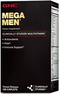 GNC Mega Men Sport Multi Vitamin, 180 Count - NEW