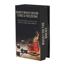 Granite Whisky / Spirits Cooling Stones & Freezer Bag - Brand New