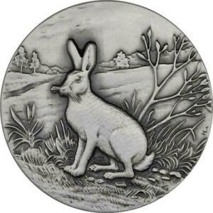 Niue 2015 2$ Swiss Wildlife-Mountain Hare 1 Oz Silver coin