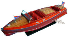 """Chris Craft Runabout 24"""" Wooden Display Model Boats"""