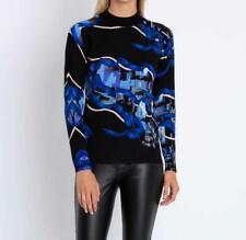 """G204 Pullover mit Kunstdruck """"blau"""" Gr. 44"""