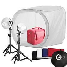 80cm Lichtzelt Lichtwürfel Softbox Fotostudio Set 135W Fotollampe für Fotografie